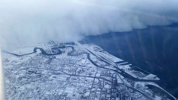 Check Out The Giant Snow Wall Swallowing New York