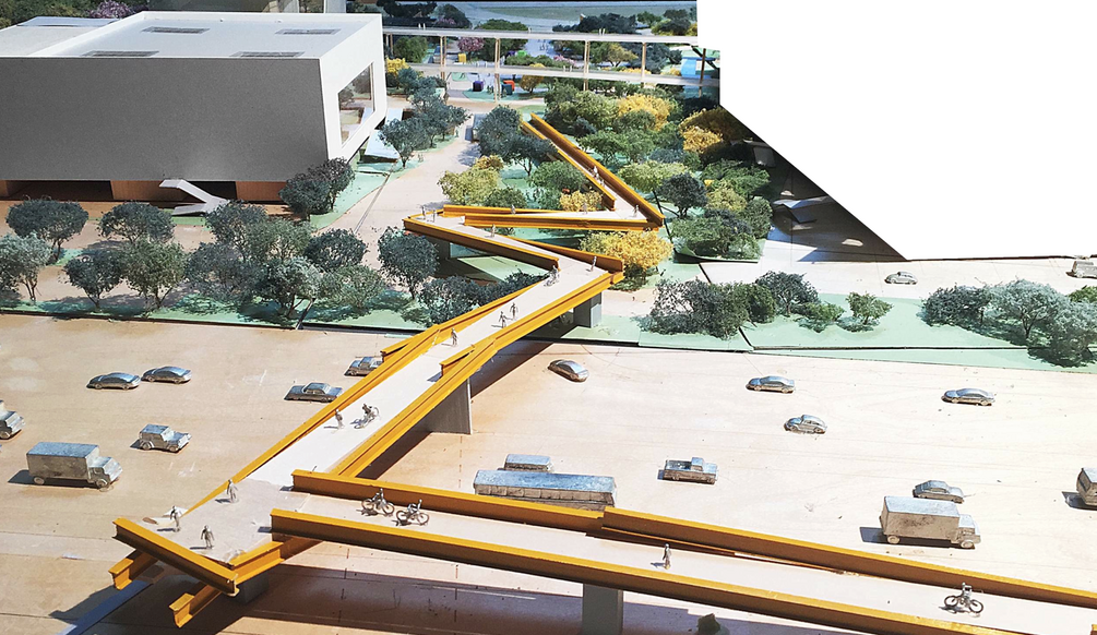 Facebook's New Gehry Building Includes The World's Least Functional Bike Bridge