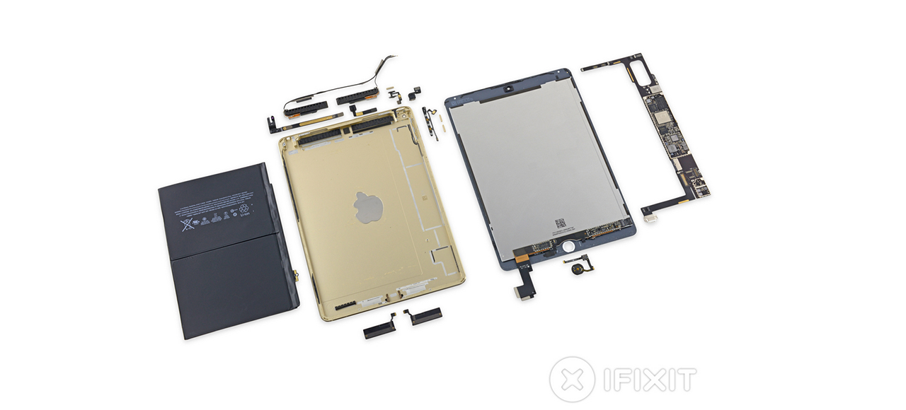IPad Air 2 Teardown: Slimmer Body, Smaller Battery