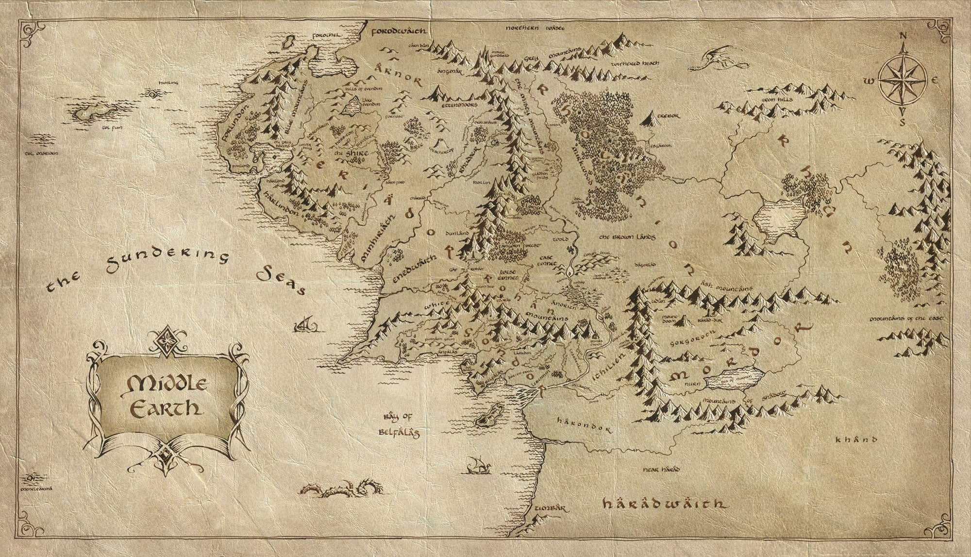 The Beautiful Handwriting And Maps Of The Lord Of The Rings Movies – Lord of the Rings Map Middle Earth