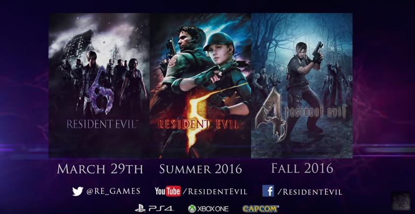 Resident Evil 4, 5, And 6 Are Coming To Xbox One And PS4