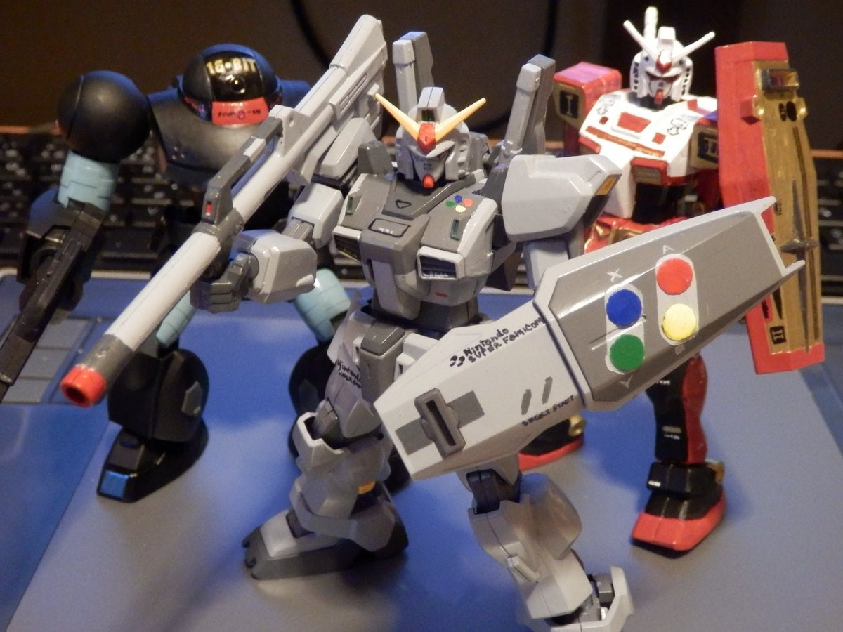 Classic Game Hardware Makes For Excellent Gundam Models