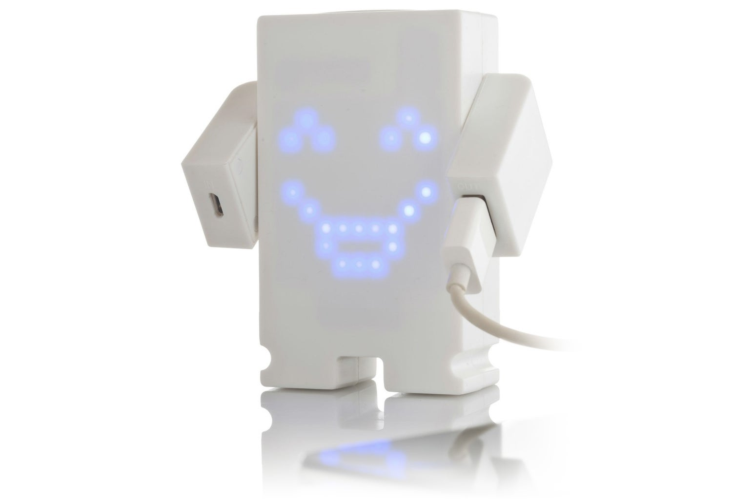 A Smiling Backup Battery That Gets Sad When It Loses Its Charge