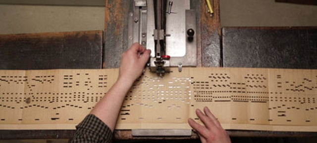 These Scarves Are Woven Music, Made With Patterns From Organ Punchcards