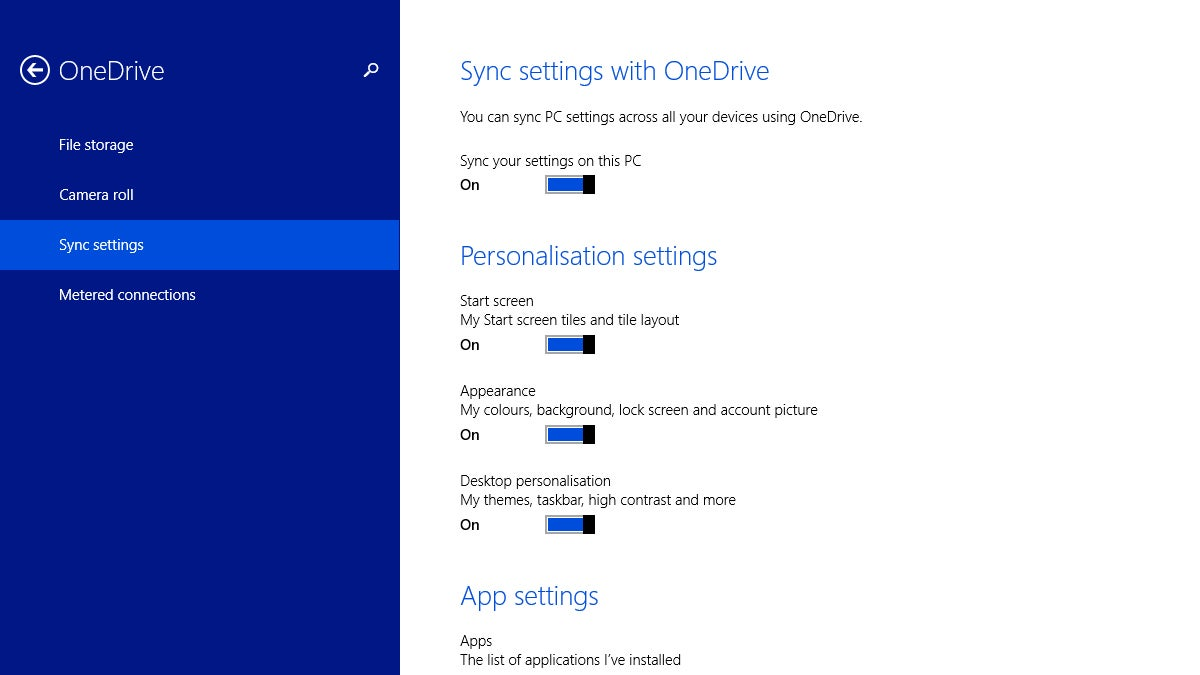 Use OneDrive to Sync Settings Across All Your Windows 8.1 Devices