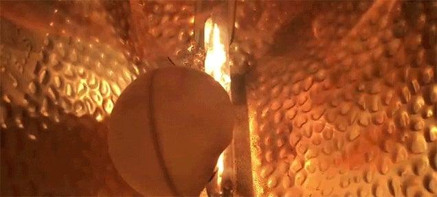 Watch a Light Bulb Totally Disintegrate a Ping Pong Ball