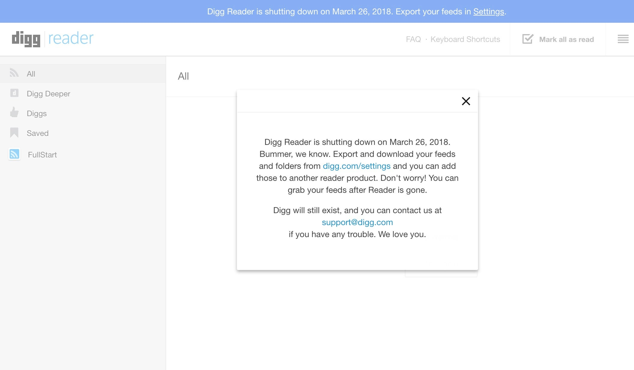 Digg's Google Reader Replacement Is Going The Way Of Google Reader