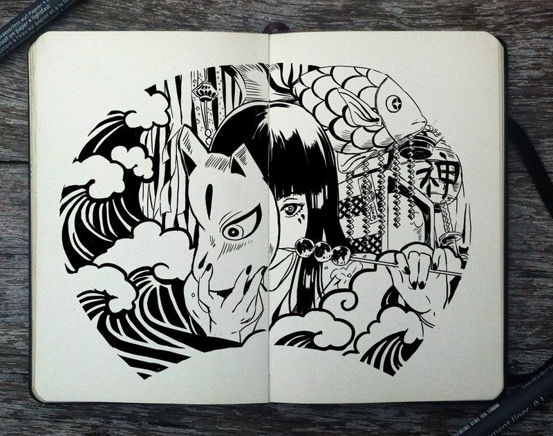 Man Draws Cool Sketches Every Day For A Year