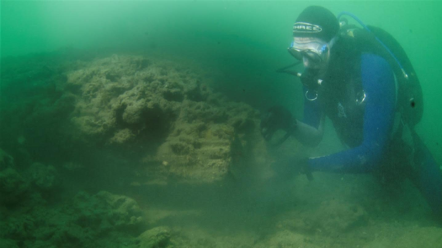 Marine Archaeologists Reveal Submerged Wooden Structure From The Stone Age