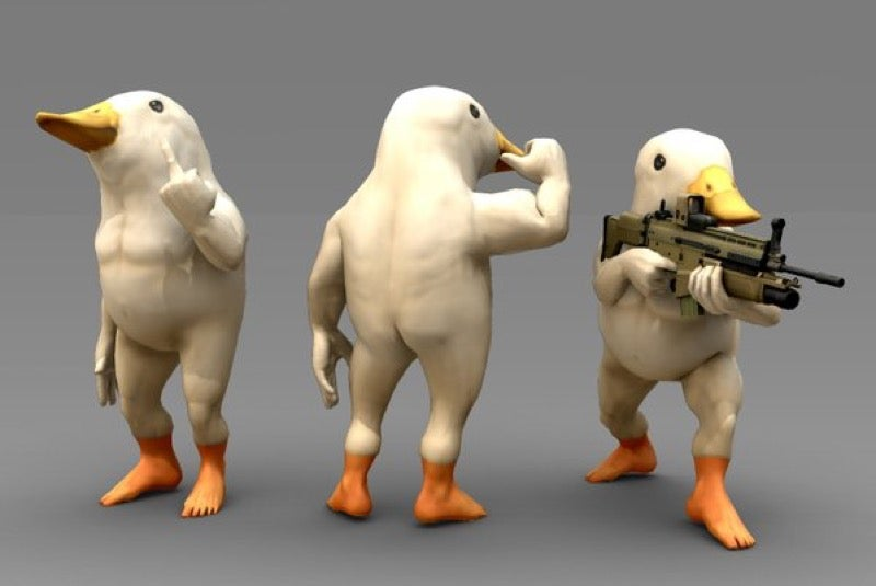 These Bare Assed Birds Would Be Great In A Shooter