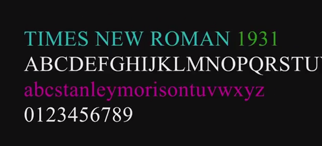 Screw Helvetica, Times New Roman is the World's Most Famous Typeface
