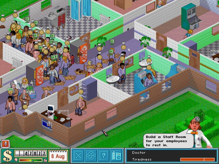 The Old School Business Sim Game Theme Hospital Is