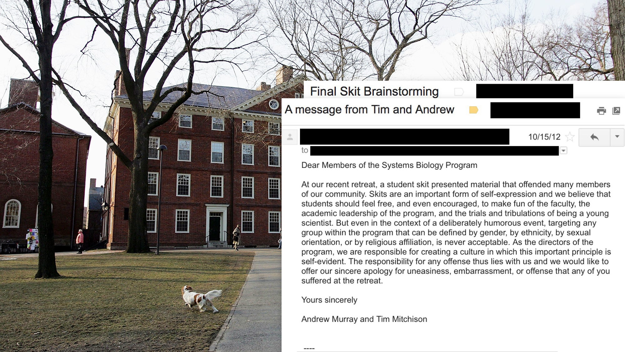 Fired Google Memo Writer Took Part In Controversial, 'Sexist' Skit While At Harvard For Which Administration Issued Formal Apology