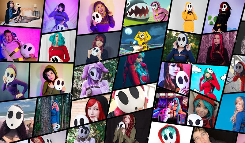 That Is A Lot Of Shy Guy Cosplay