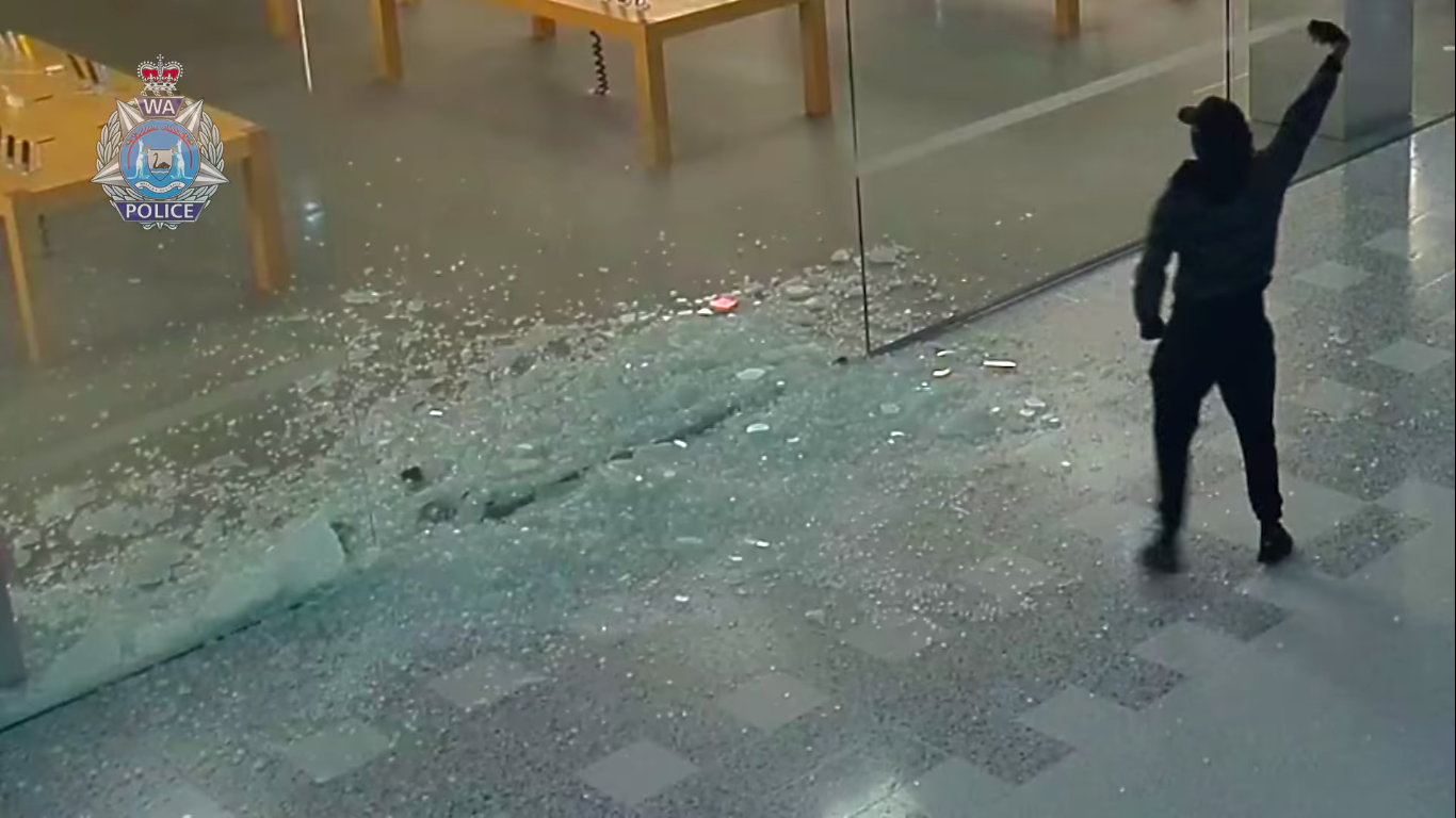 Australian Thieves Steal More Than $440,000 In Apple Products After Smashing Glass Wall With Sledgehammer