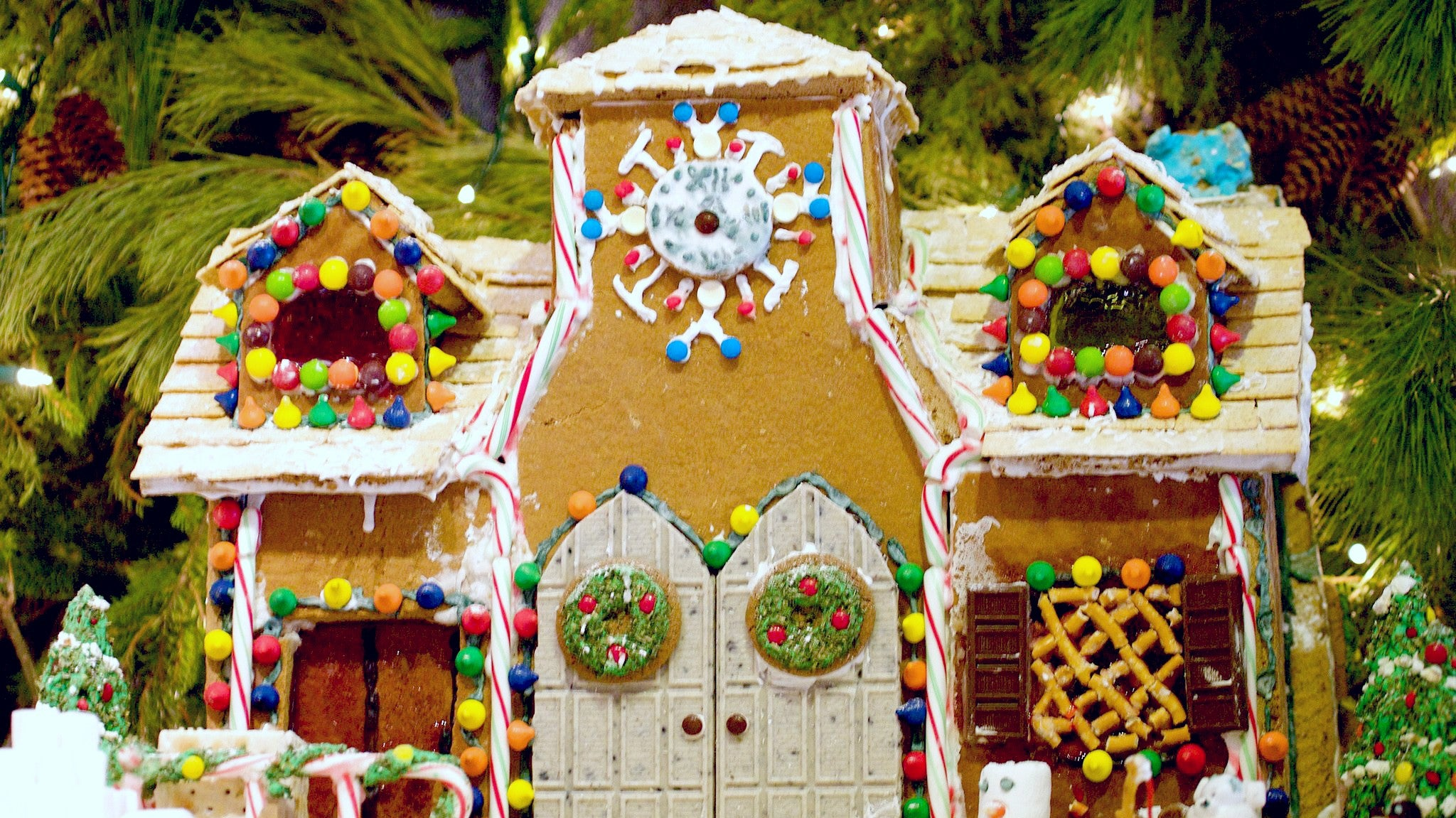 Build Your Gingerbread House Using Marshmallow Treats For Stability