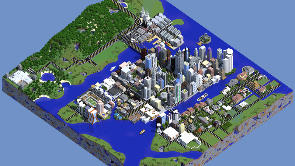 Hey look kotaku australia a superb modern day minecraft city that totally looks like one of the older sim city games i just love all the unique buildings in theamazingquinns map gumiabroncs Images