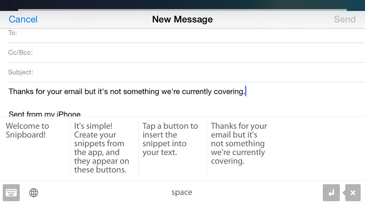 Keep Common Phrases On Hand With Snipboard for iOS
