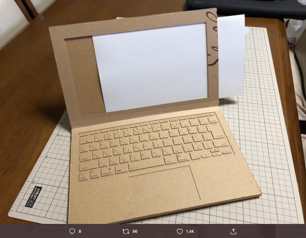 Mum Makes Cardboard Laptop For Her 4-Year-Old Kid