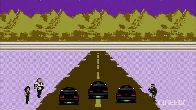 The Fast And The Furious As a SNES Racing Game