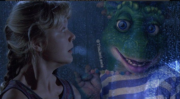 Jurassic Park Is So Much More Unnerving When The Dinosaurs Are From That Godawful '90s Sitcom