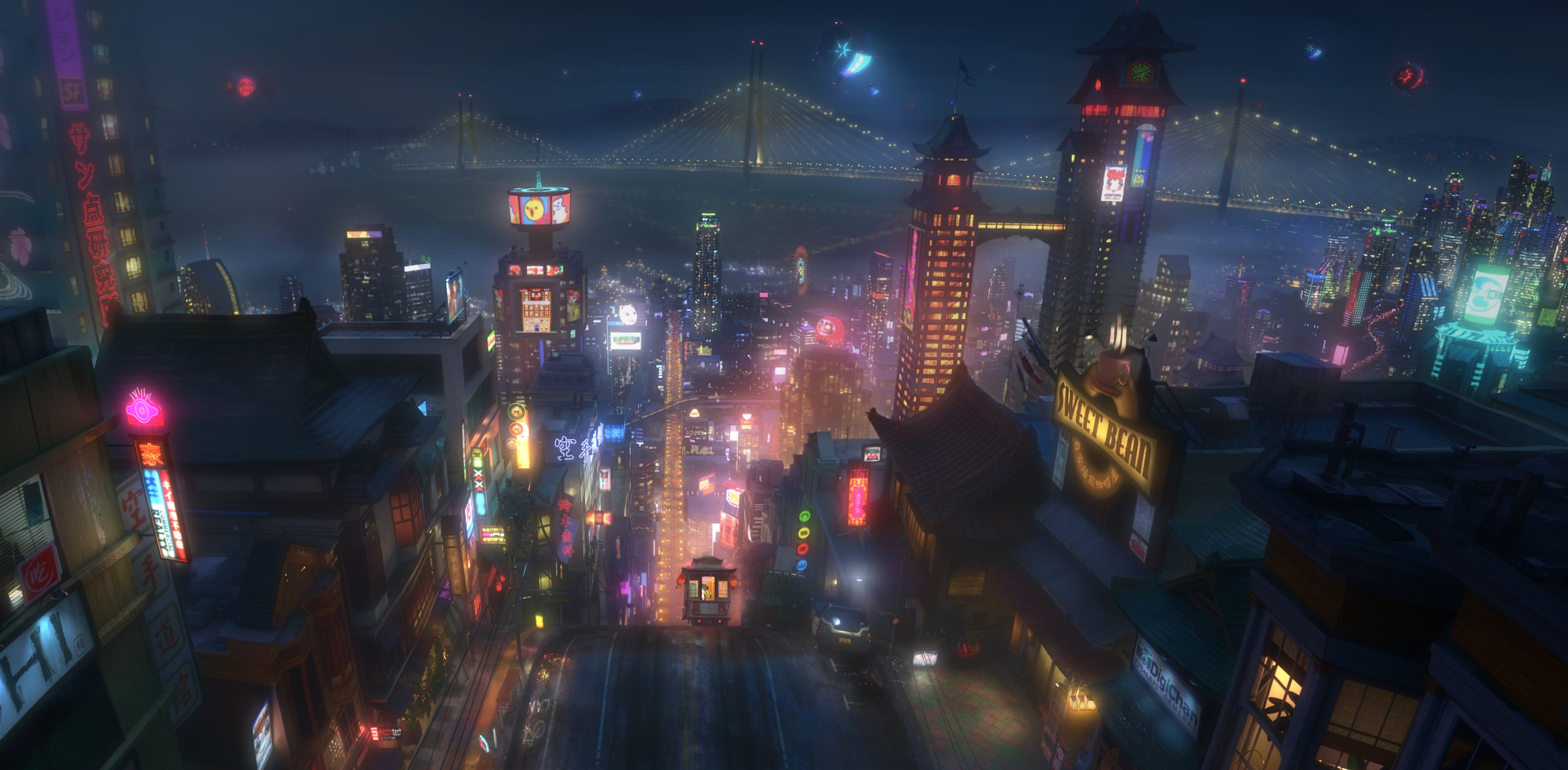A Tour Of 'San Fransokyo', The Hybrid City Disney Built For Big Hero 6