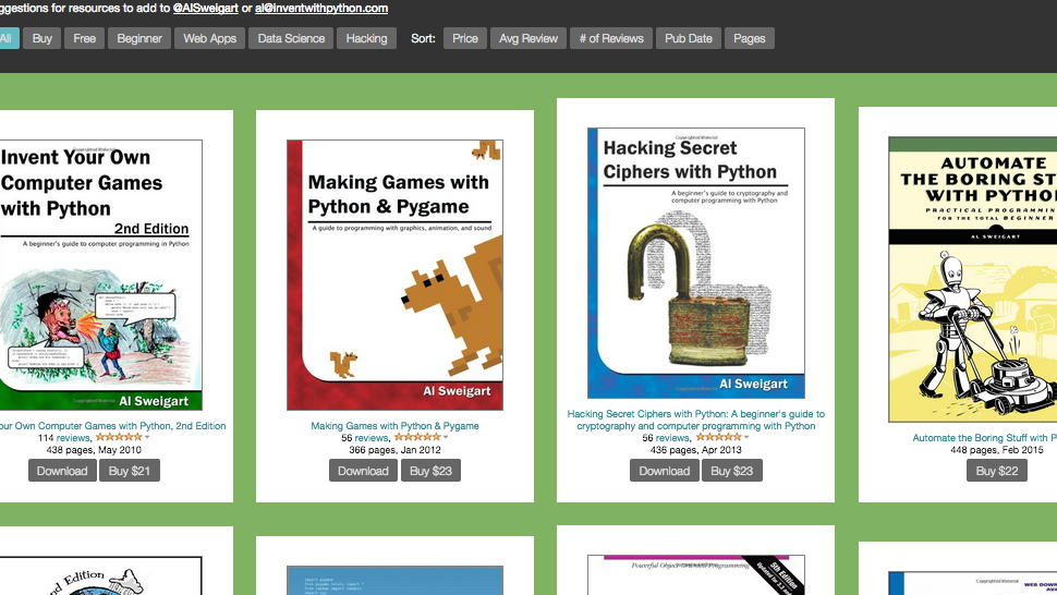 Invent With Python Is a Treasure Trove of ebooks for Aspiring Coders