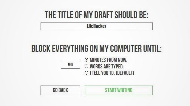 FORCEdraft Doesn't Let You Quit Writing Until You Hit Your Goal