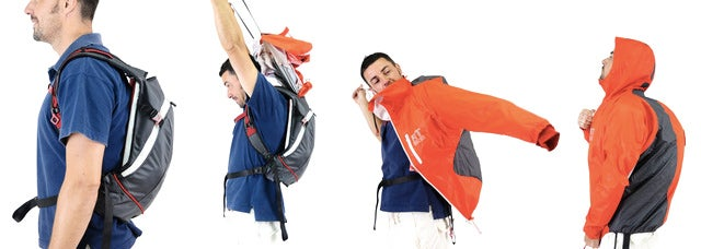 This Backpack Has An Emergency Raincoat That Deploys Like A Parachute