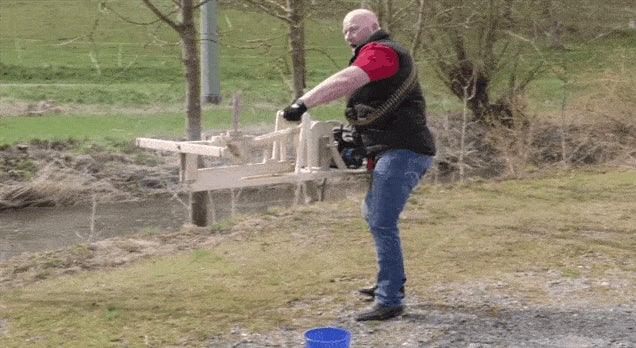 Motorised Slingshot Fires 2000 Rounds Per Minute
