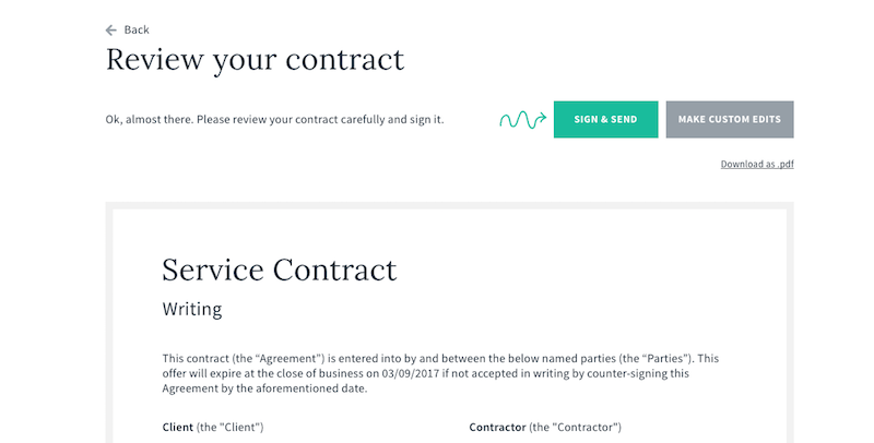 When You Freelance With A Client, They Typically Give You A Contract To  Sign That Protects Them In Case Things Go South. You Might Want To Have  Your Own ...
