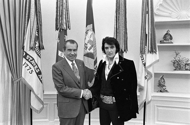 The most requested photo in the National Archives is of Nixon and Elvis