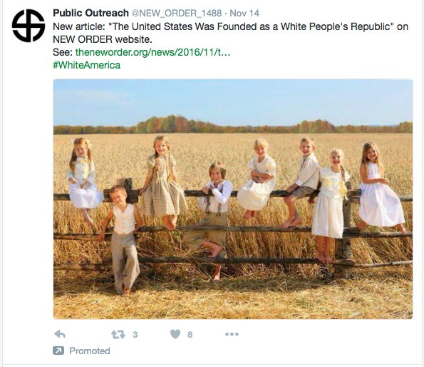 Hey Twitter, Looks Like There Was A White Supremacist Ad On Your Website