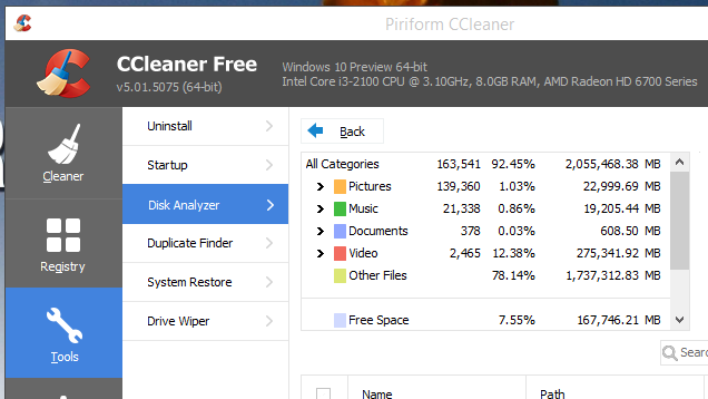 CCleaner Updates with a New Disk Analyser to Free Up Hard Drive Space
