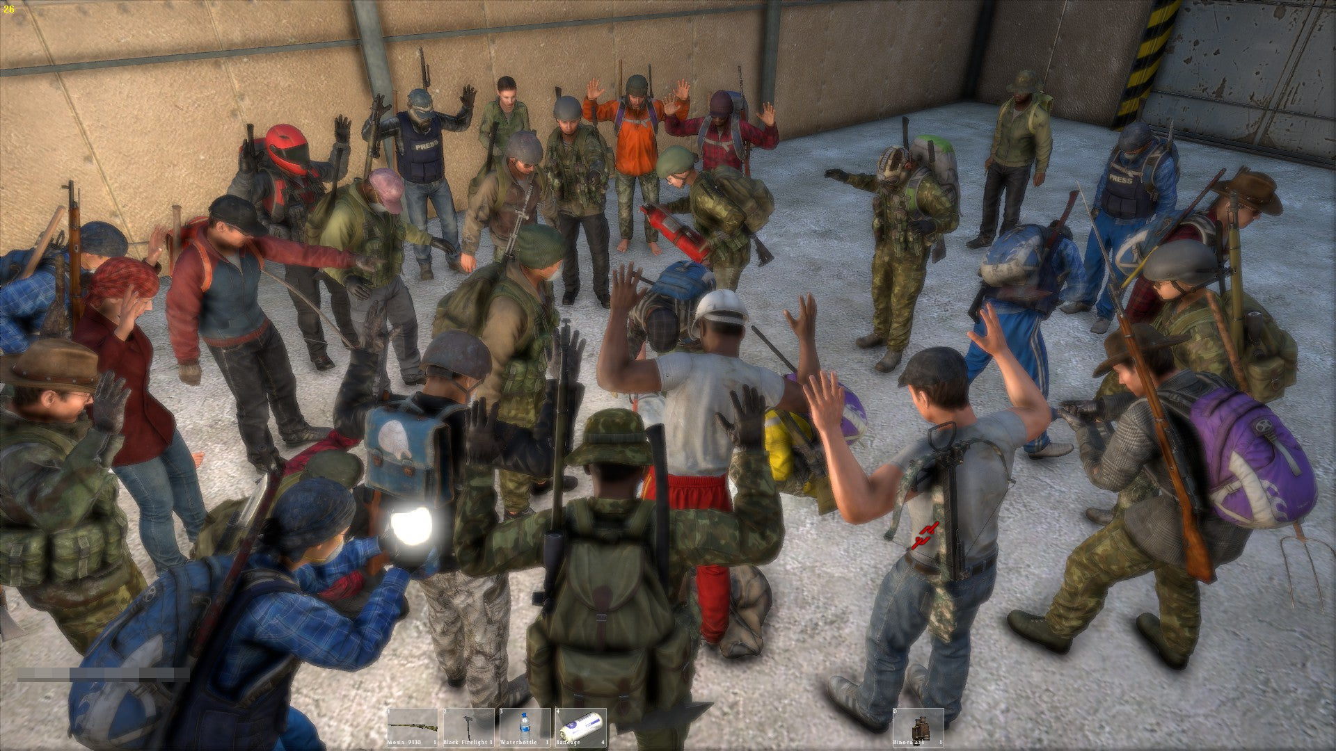 It's Not Often You See A Group So Large In DayZ