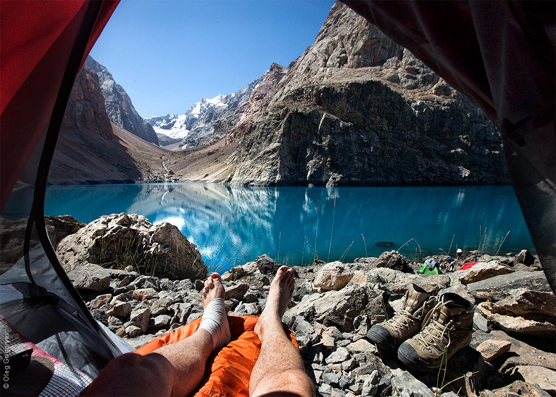 These beautiful mountain views from inside a tent make me so jealous