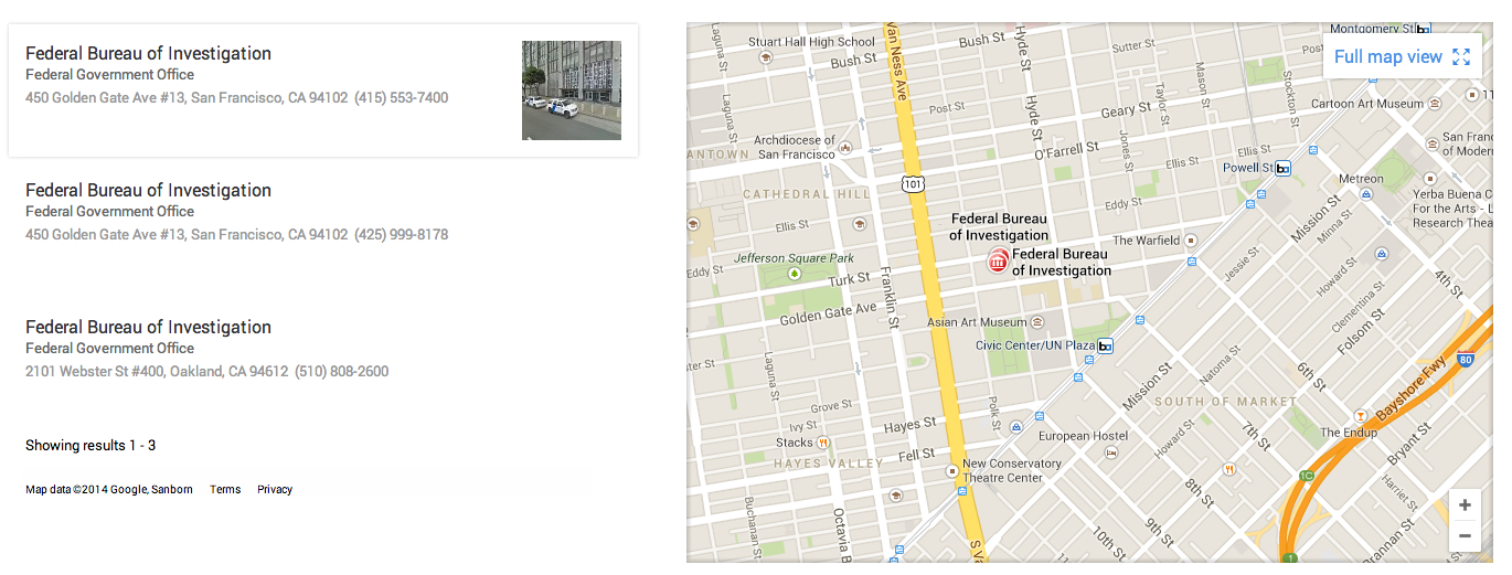 FBI and Secret Service Phone Calls Intercepted by Google Maps Exploit