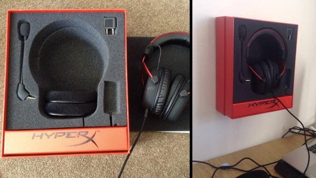 Use The Box Your Headphones Came In As A Wall Mount With Space For Accessories
