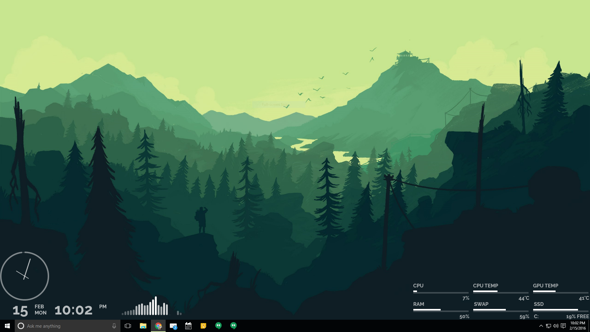 The Sunset Firewatch Desktop