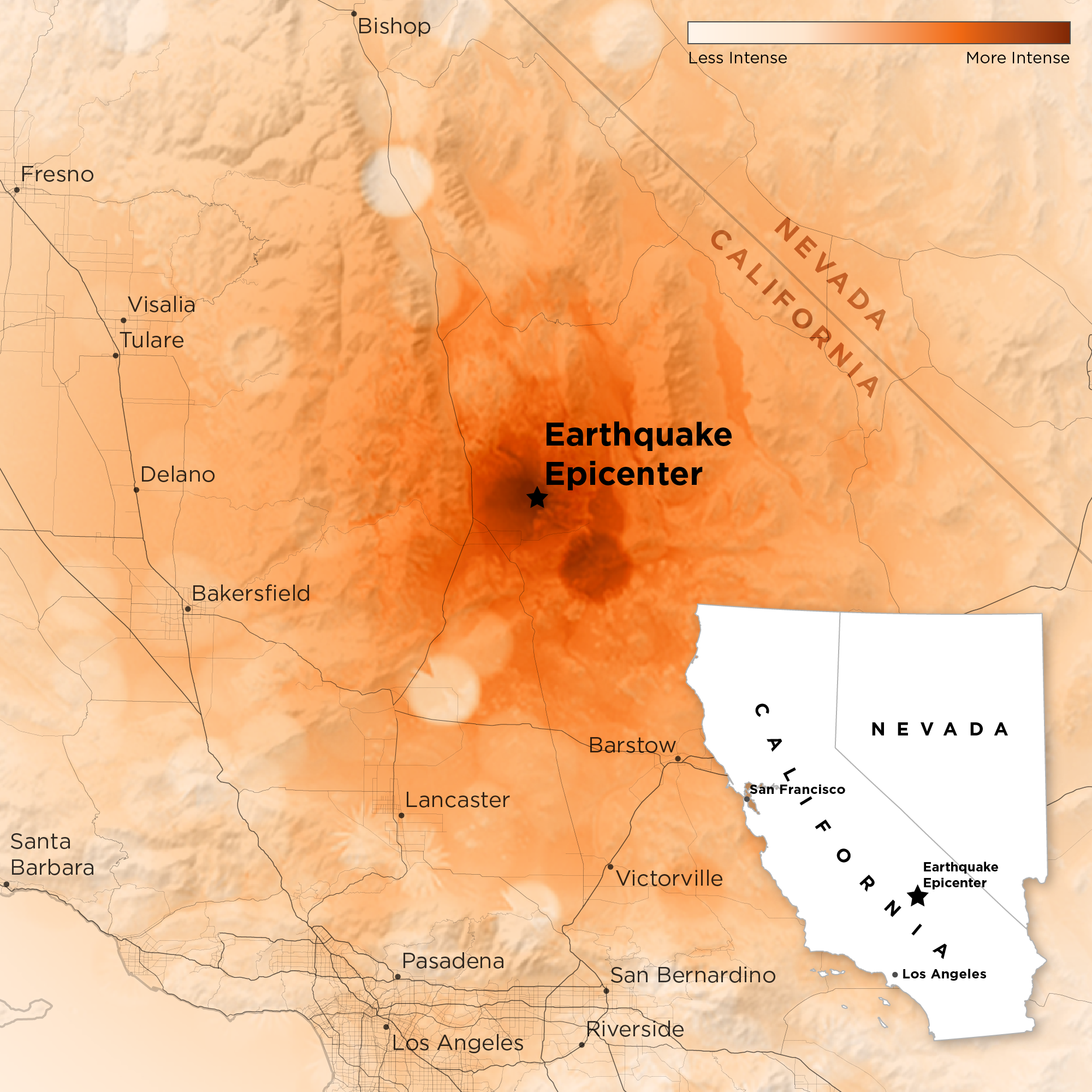 That Big California Earthquake Left A Scar That's Visible From Space