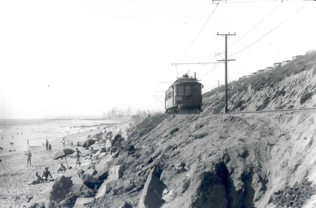 Trolley Tracks Once Ran Through the Beaches of Los Angeles