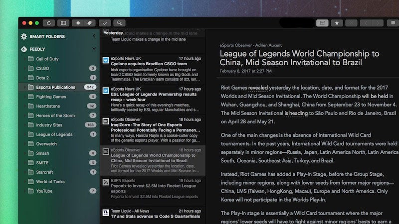 ReadKit, The RSS Reader For Mac, Cleans Up Its Design And Adds A New Dark Theme