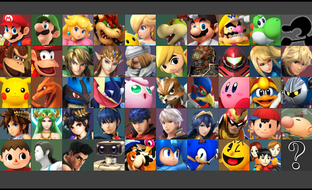 Here's The Full Roster For Super Smash Bros