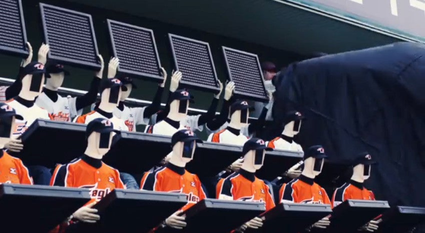 Baseball team is so bad it had to install robots to cheer up human fans