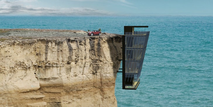 I Wish This House Hanging From a Cliff Was Actually Real & I Wish This Aussie Concept House Hanging From A Cliff Was Real ...