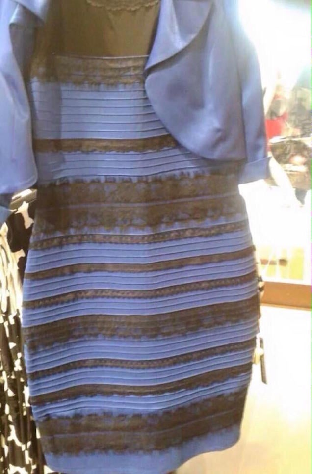 Some people see this dress as white & gold while others see black & blue