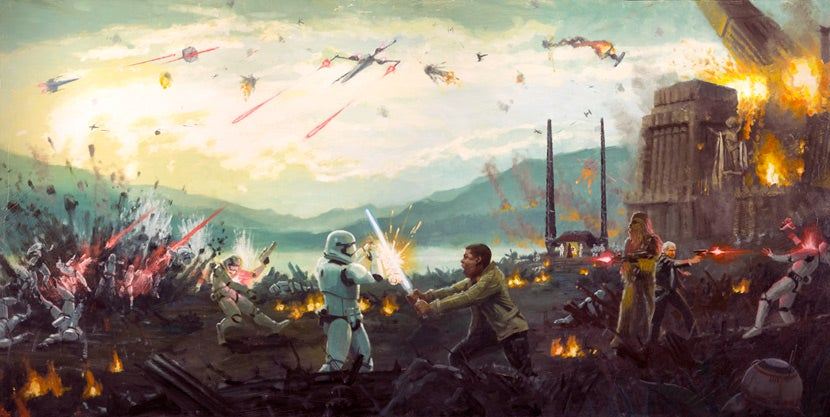 Finn Takes On TR-8R In This Insane Force Awakens Art, Part Of A Batch Of New Star Wars Pieces