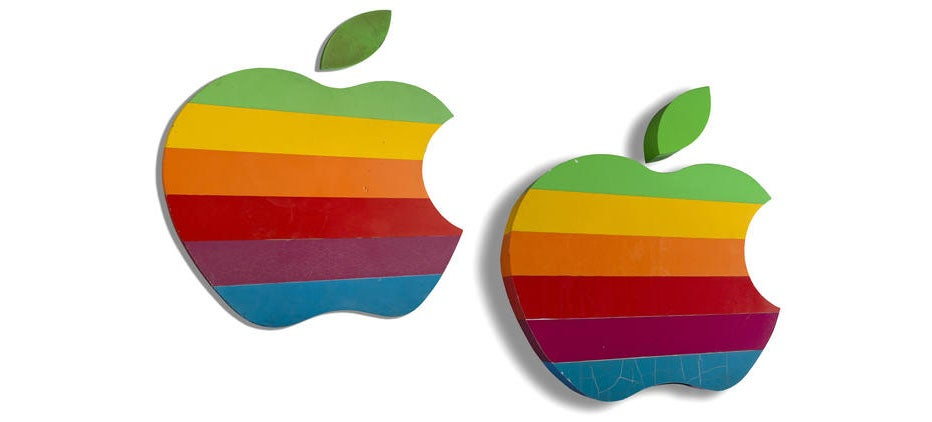 You Can Buy These Original Cupertino Rainbow Apple Signs