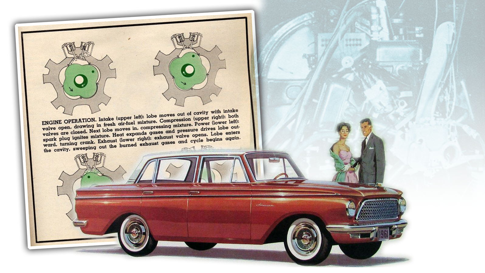 Rambler Once Was Developing A Really Weird Non-Wankel Rotary Engine