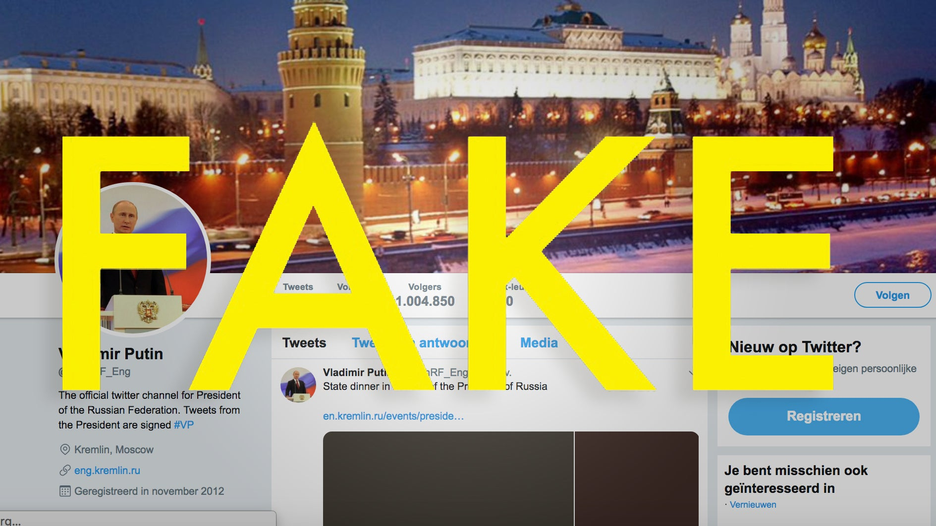 You Can Stop Angrily Tweeting At Putin's 'Official' English-Language Twitter Account Now (It's Fake)